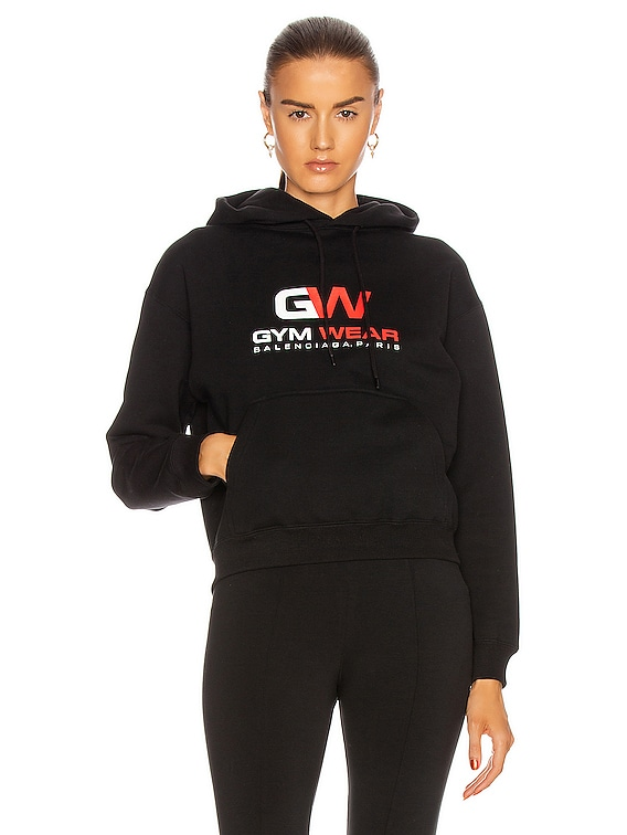 Small Fit Gymwear Hoodie in Black