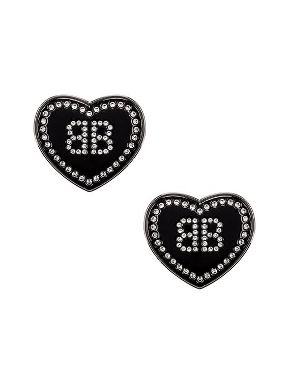 Crush Earrings in Black & Crystal
