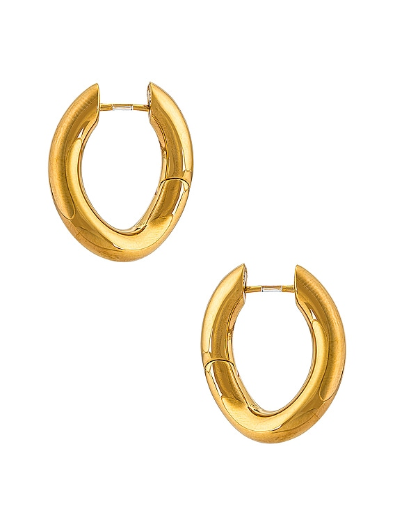 XS Loop Earrings in Shiny Gold