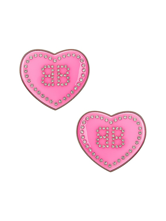 Crush Earrings in Candy Pink & Crystal & Sil