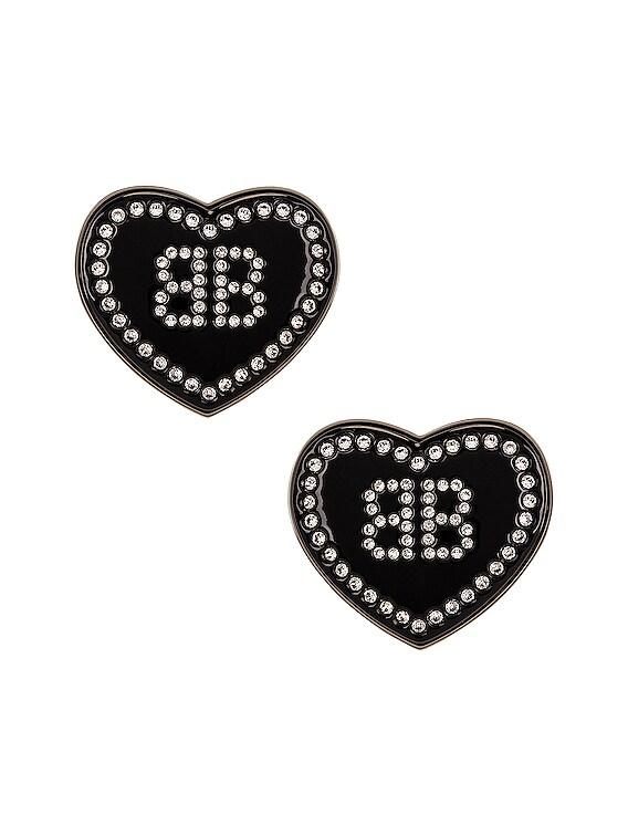 Crush Earrings in Crystal & Silver