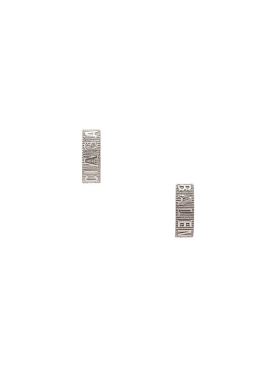 Force Striped Earrings in Shiny Silver
