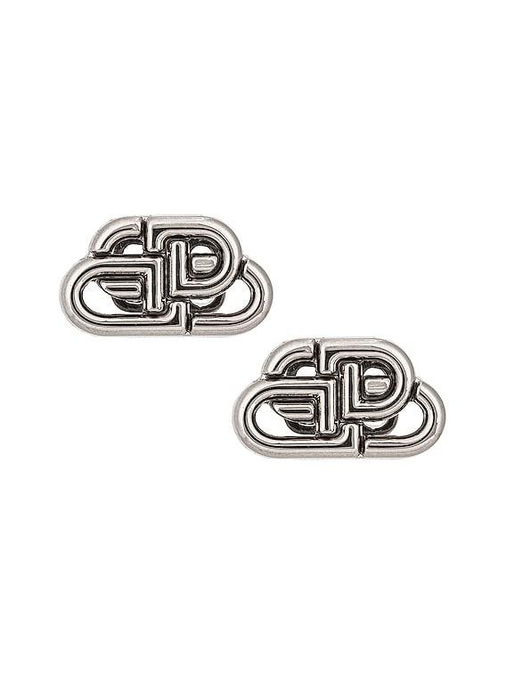 XS BB Stud Earrings in Silver