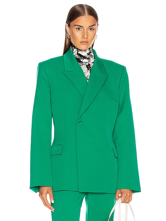 Waisted Jacket in Emerald Green