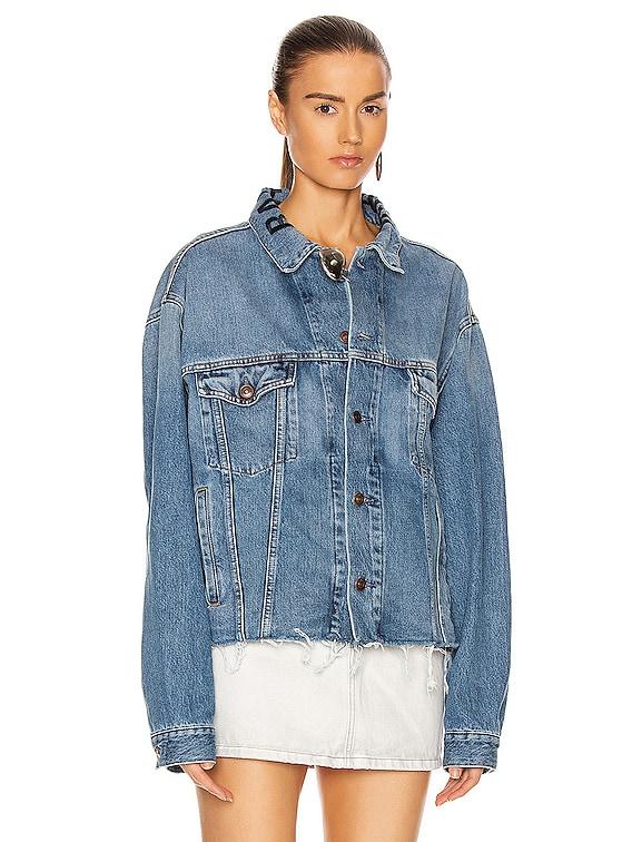 No Waistband Jacket in Light Vintage Indigo