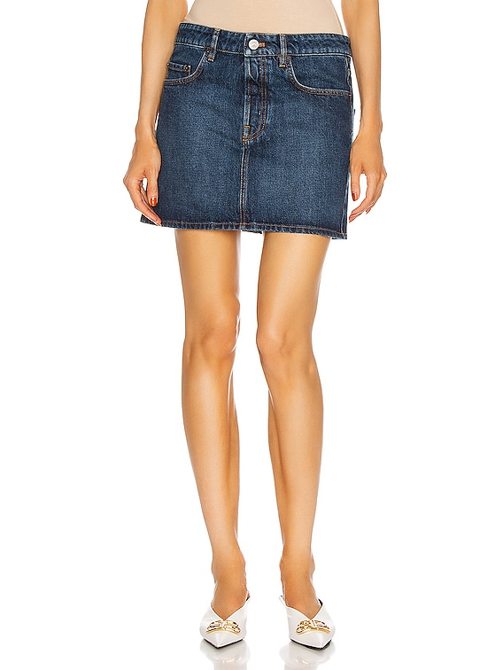 Low Waist Mini Skirt in Daddy Wash