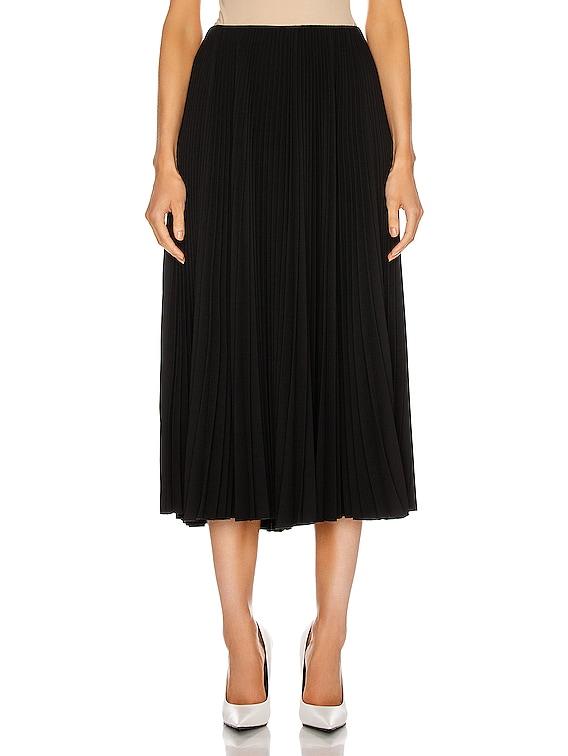 Pleated Skirt in Black