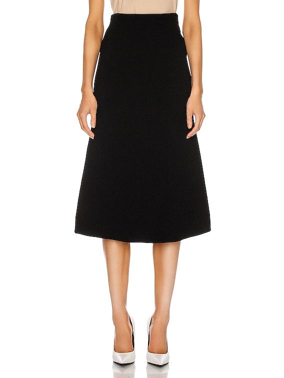 Technical Knit Skirt in Black