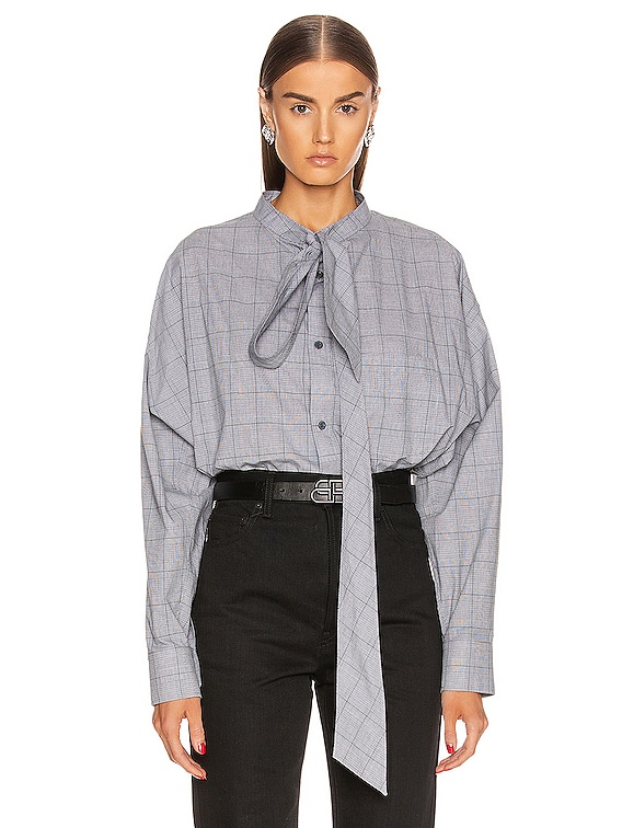 Balenciaga Swing Shirt in Black \u0026 White