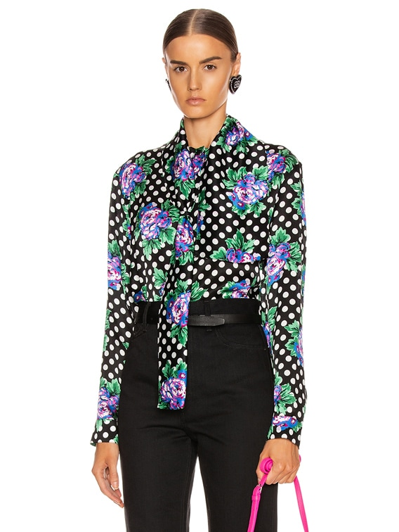 Scarf Blouse in Black