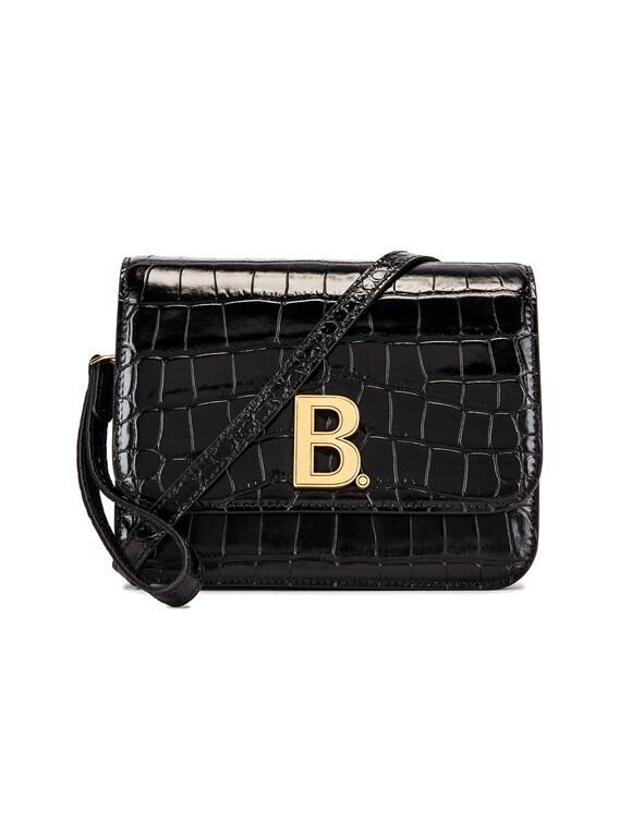 Balenciaga Small Embossed Croc B Bag in