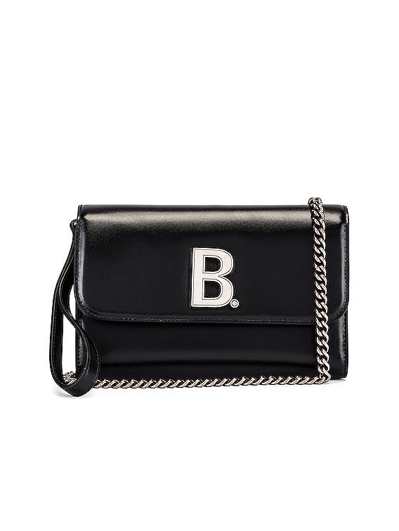 B Continental Chain Bag in Black