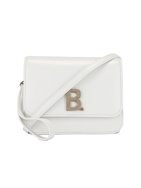 Small B Bag in White