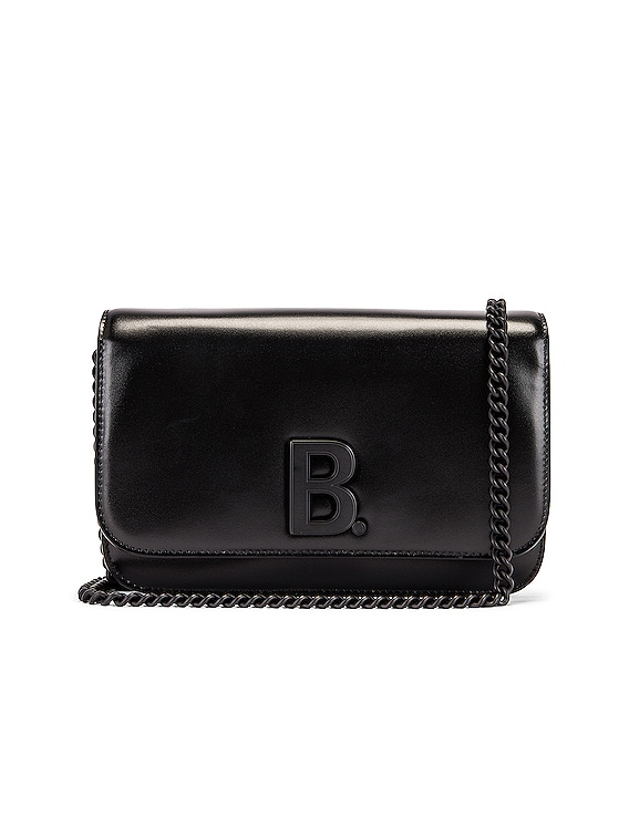 B Wallet on Chain Bag in Black