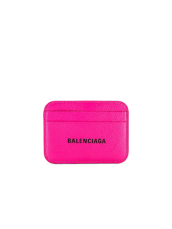 Cash Card Holder in Acid Fuchsia & Black