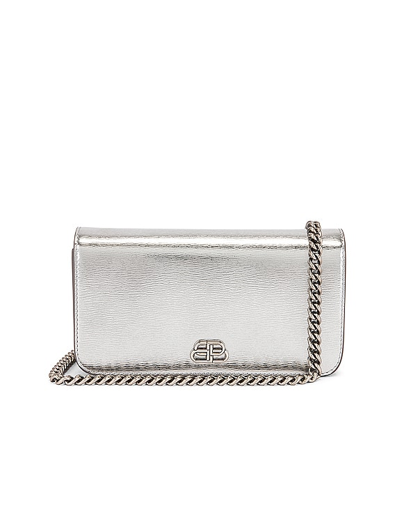 BB Phone Holder Chain Bag in Silver