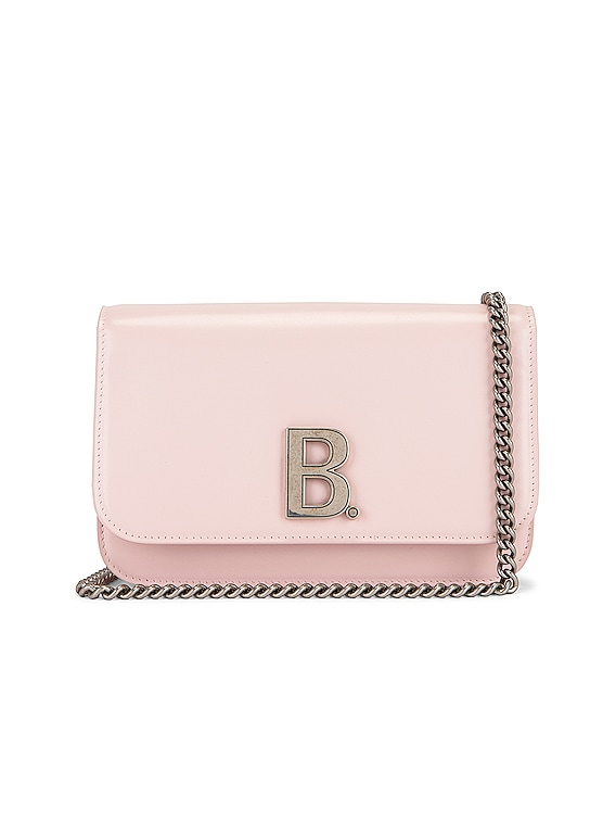 B Wallet on Chain Bag in Light Rose