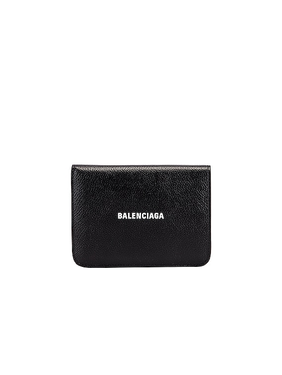 Medium Cash Wallet in Black & White