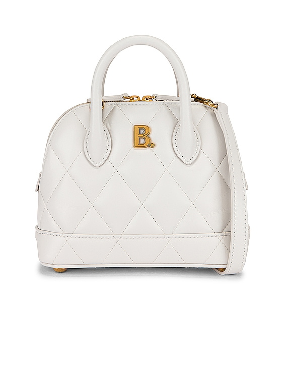 XXS Quilted Leather Ville Top Handle Bag in White