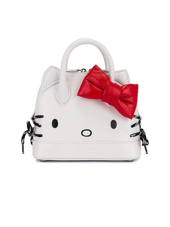 XXS Kitty Top Handle Bag in Optic White