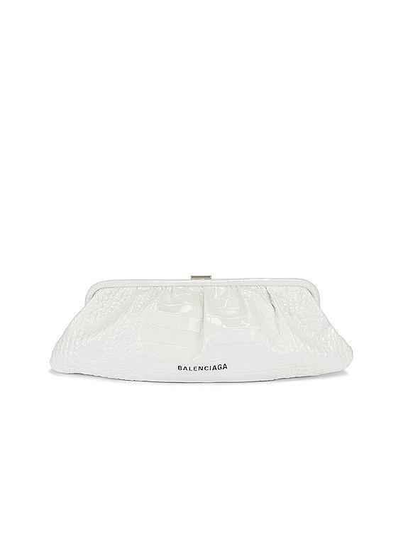 XL Cloud Clutch in White