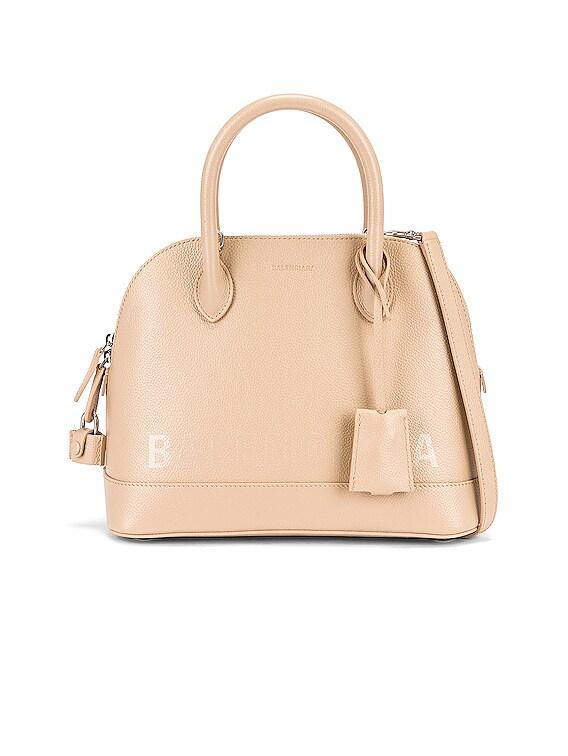 Small Ville Top Handle Bag in Light Beige