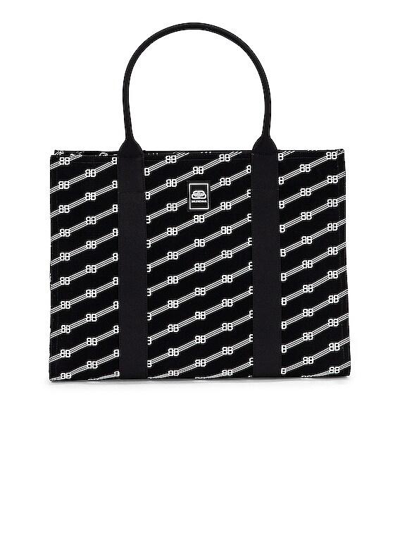 Zip Tote in Black & White