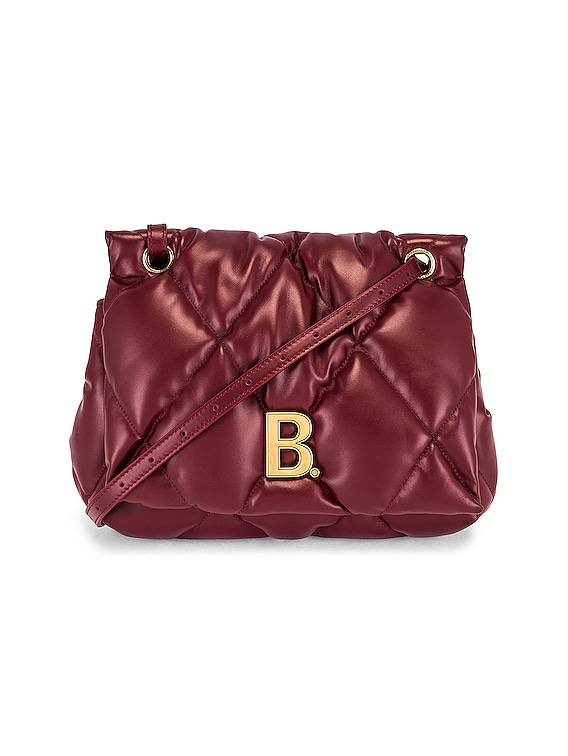 Medium Puffy Shoulder Bag in Dark Red