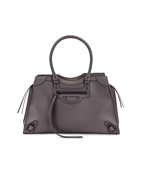 Large Neo Classic City Bag in Dark Grey