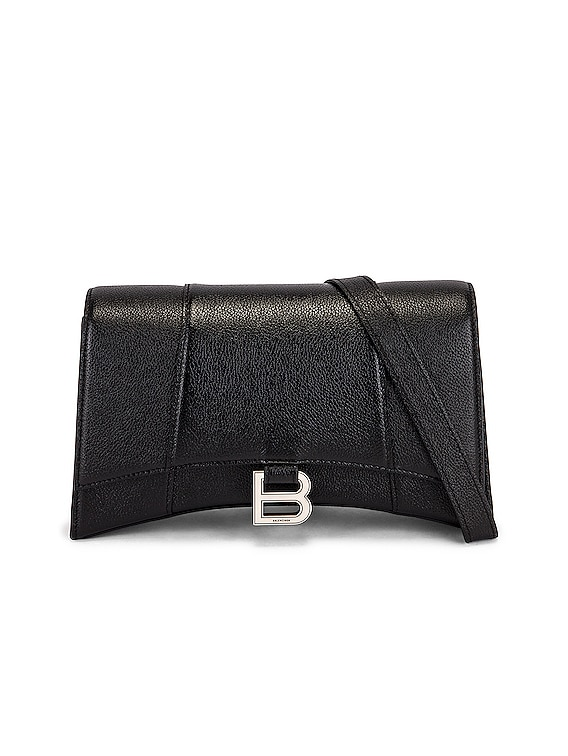 Hourglass Sling Bag in Black