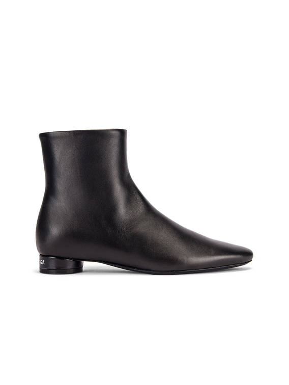 Oval Flat Booties in Black & White