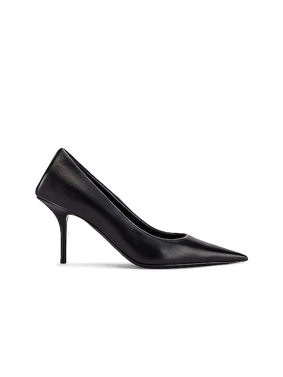 Square Knife Pumps in Black