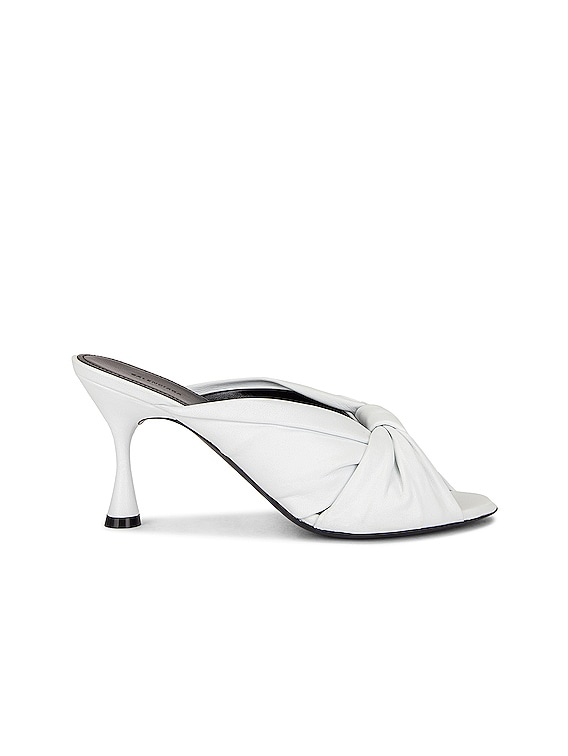 Drapy Sandals in Optical White