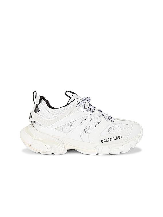 Track Sneakers in White & Black