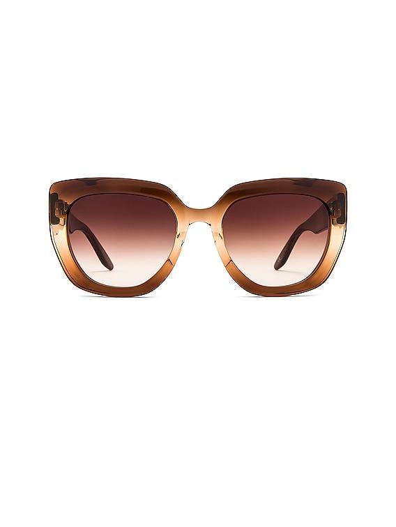Akahi Sunglasses in Manuka Gradient & Smokey Topaz