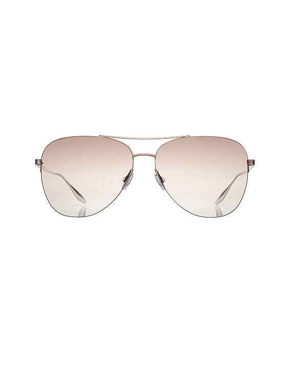 Chevalier Sunglasses in Rose Gold & Xanadu