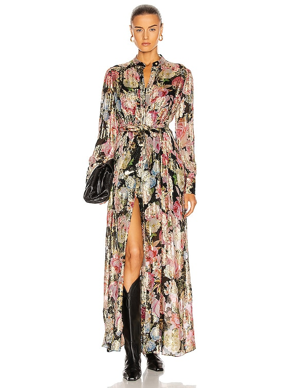 Kilim Maxi Dress in Black