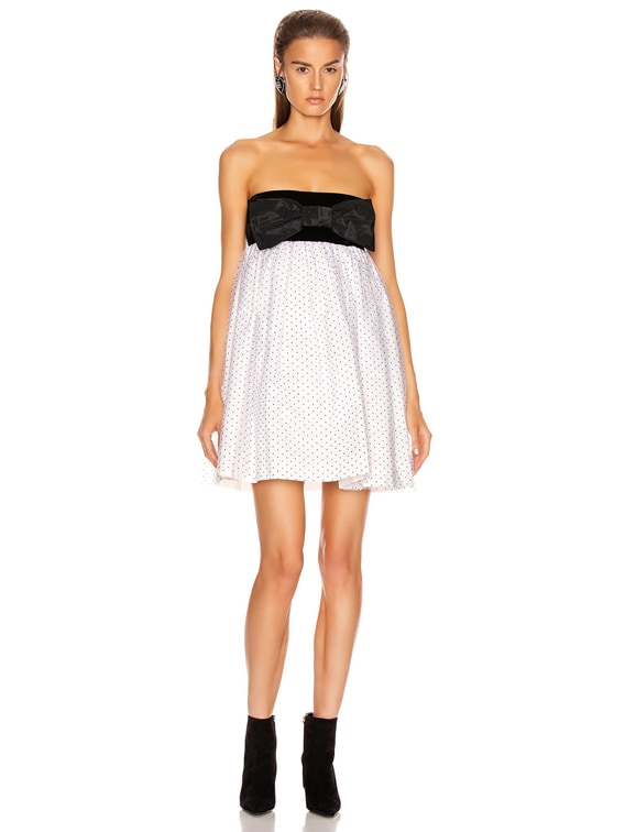 Plumetis Mini Dress in White