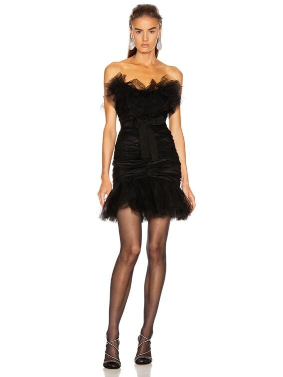 Tulle Mini Dress in Black