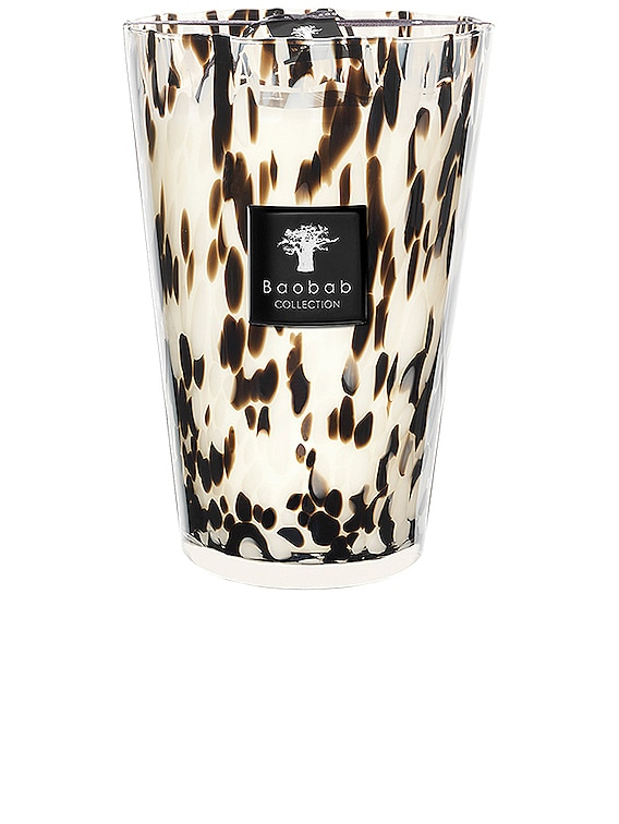 Pearls Candle in Black