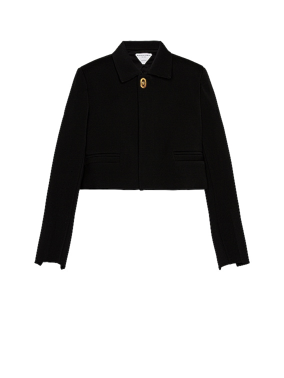 Cropped Jacket in Black