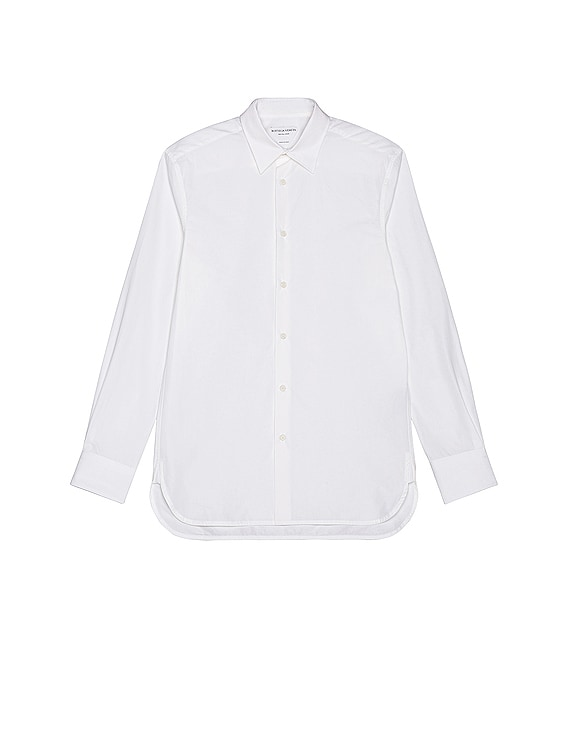Long Sleeve Button Down in White