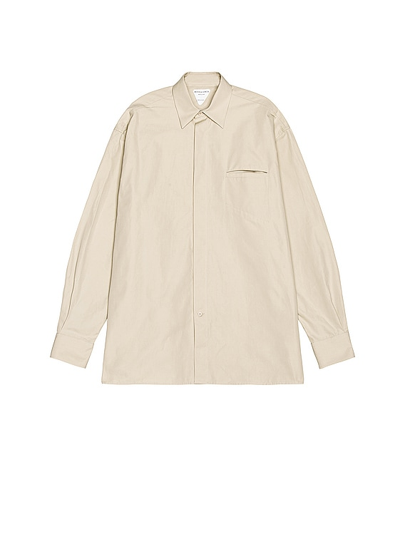 Long Sleeve Button Down in Wax
