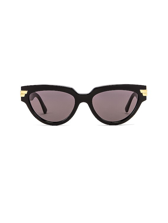 Cat Eye Sunglasses in Shiny Black & Grey