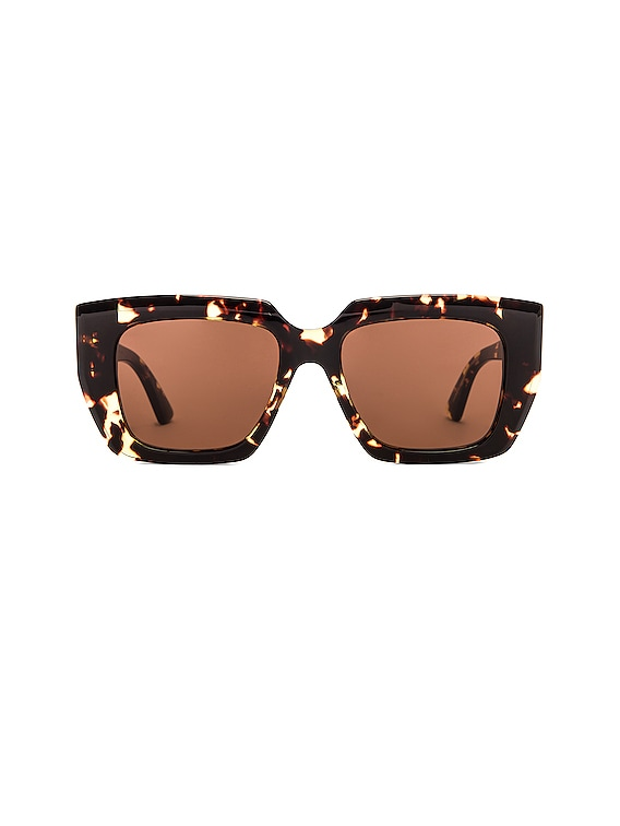 Square Sunglasses in Havana & Brown