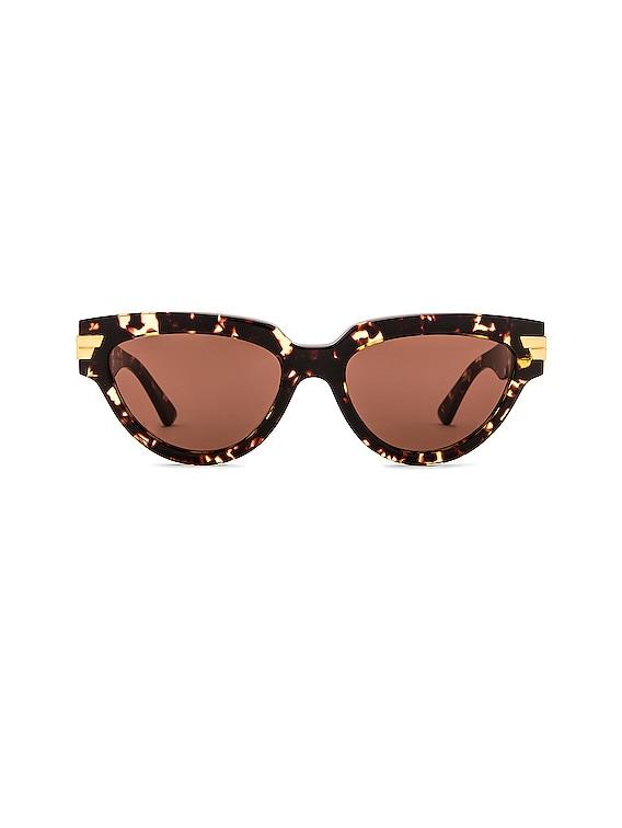 Cat Eye Sunglasses in Havana & Brown