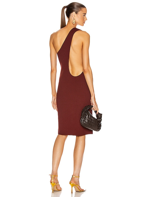 One Shoulder Dress in Rust
