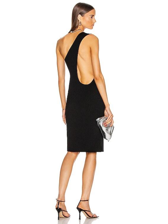 One Shoulder Dress in Black