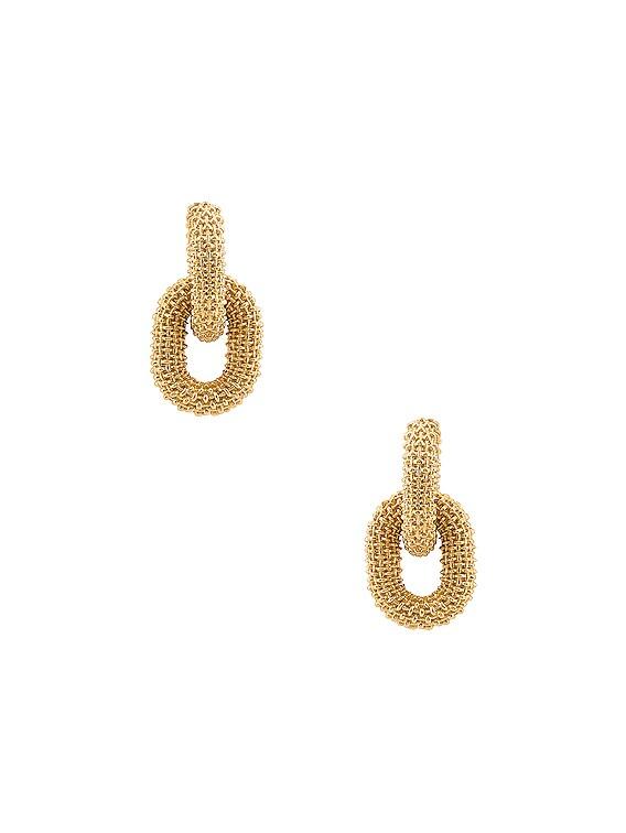Chain Earrings in Argento Oro Giallo