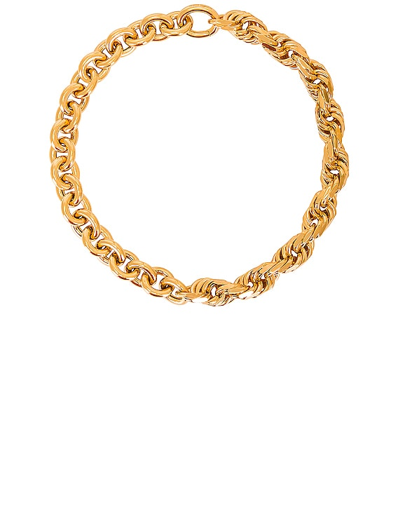 Chain Necklace in Argento Oro Giallo
